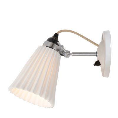 Hector Pleat Wall Light Natural White, Switch, Medium