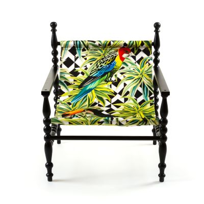 Heritage Armchair White base, Parrots