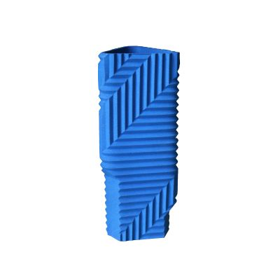 Herringbone Vase Blue