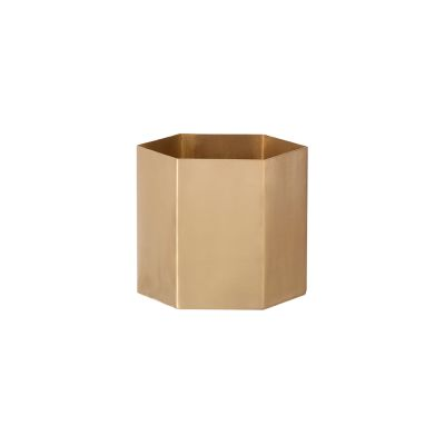 Hexagon Pot Small - Set of 8 Brass, Small