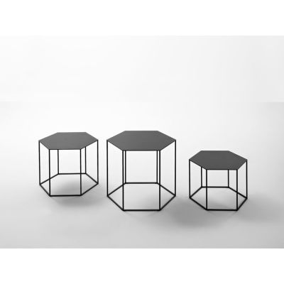 Hexagon Stacking Side Table - Set Of 3 B72 Denim Blue