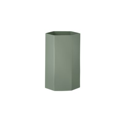 Hexagon Vase - Set of 8 Dusty Green