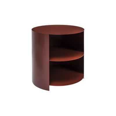 Hide Side Table Powder Coated Steel - Rust Red