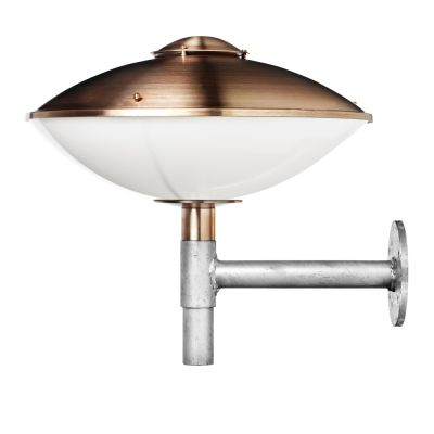 HL410 Outdoor Wall Light Opal acrylic