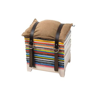 Hockenheimer Storage Stool Magazine Short