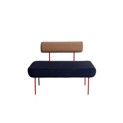 Hoff Large Armchair-Villegiature Red Legs