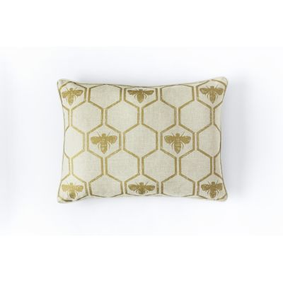 Honey Bees Cushion  Gold