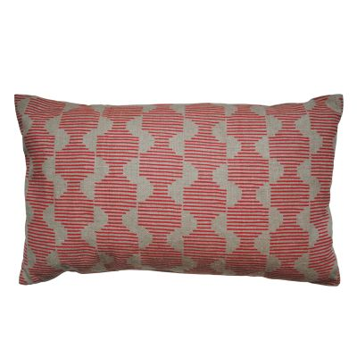 Hoof Rectangular Cushion Pink and Beige