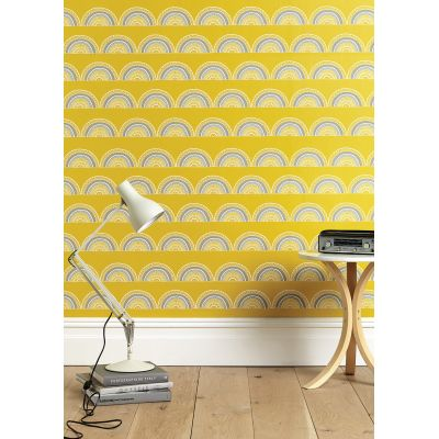Horseshoe Arch In Yellow Wallpaper Order a roll