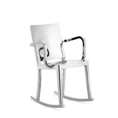 Hudson Rocking Chair with Arms Hand Polished
