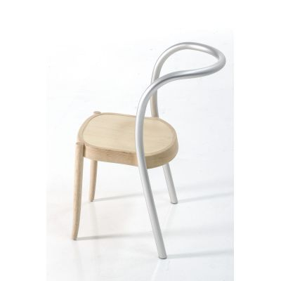 Hybrid Dining Chair - Set of 2 New Base Anodized aluminium, Ash natural