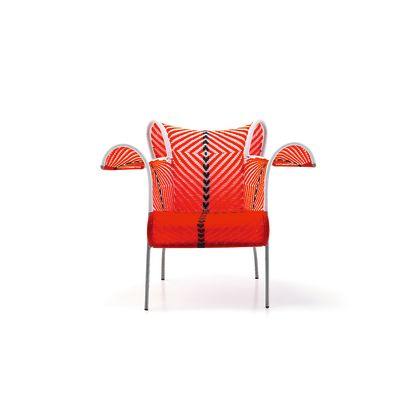 Ibiscus Armchair - New Rouge - Blanc - Noir