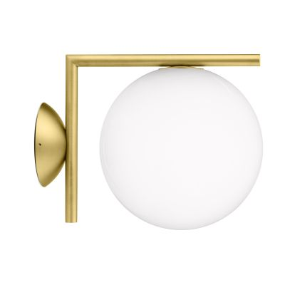IC Wall Light Brushed Brass, Small