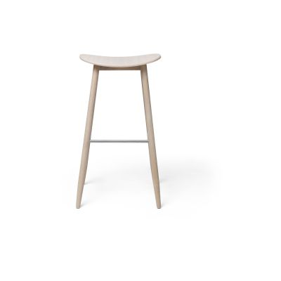 Icha Bar Stool White Oiled Oak, 75cm