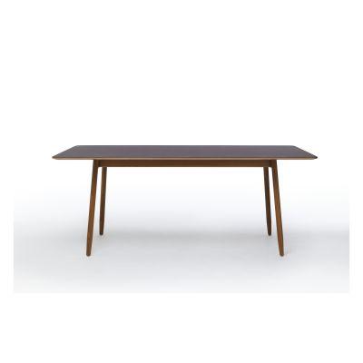 Icha Rectangular Dining Table Mushroom Top & White Oiled Oak Base, 240cm