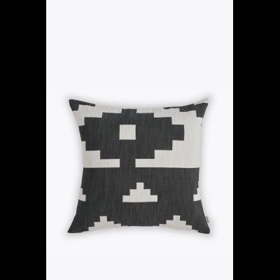 Ikat Square Cushion Black