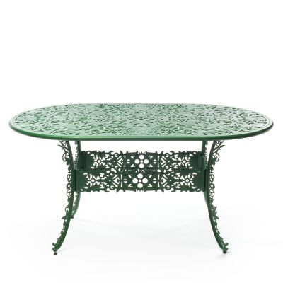 Industry Aluminium Oval Table Green