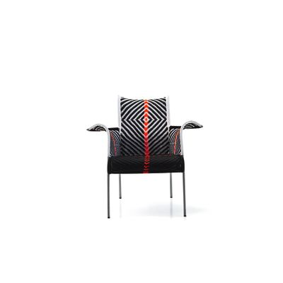 Iris Armchair - New Rouge - Blanc - Noir