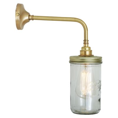 Jam Jar Wall Light Satin Brass