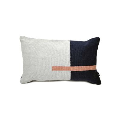Jama-Khan Cushion  Blue & Grey Rectangle Cushion