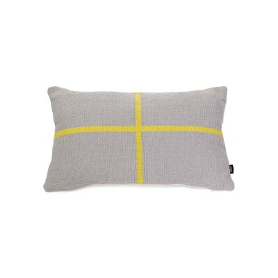 Jama-Khan Cushion Grey & Yellow Rectangle Cushion