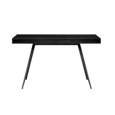 JFK Desk Living Table Black Ash Veneer