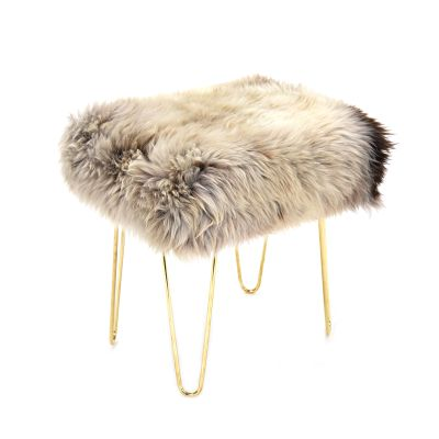 Judy Sheepskin Footstool  in Rare Breed