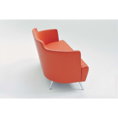 Jules Sofa B0211 - Leather Oil cirè, Lacquered Aluminium Feet