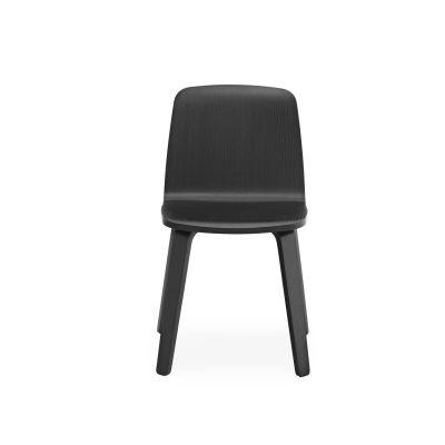 Just Chair - Wood Base Black/Black