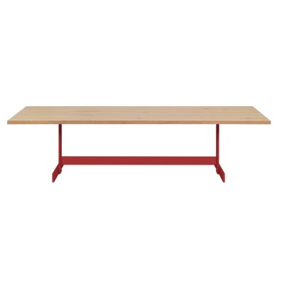 Kazimir Dining Table Powder-Coated Steel, Unfilled, Travertine, 200,Silk Grey