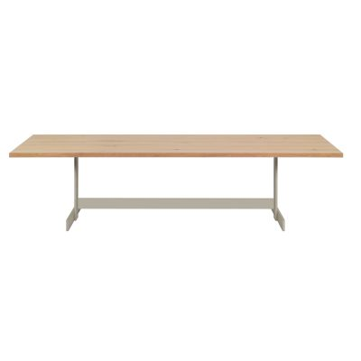 Kazimir Dining Table Powder-Coated Steel, Oiled, Oak, 200,Silk Grey