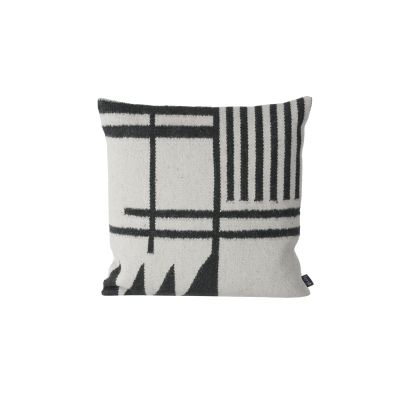 Kelim Cushion, Black Lines - Set of 4