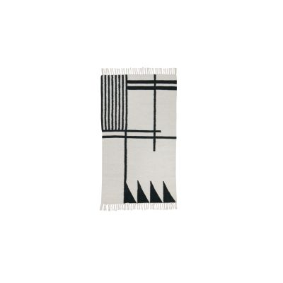 Kelim Rug, Black Lines, Small - Set of 2