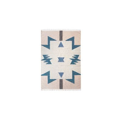 Kelim Rug, Blue Triangles - Large