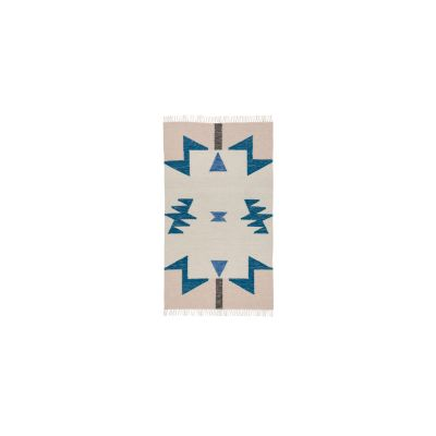 Kelim Rug, Blue Triangles, Small - Set of 2