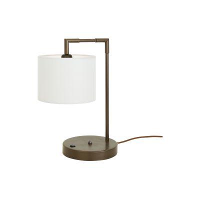 Kendal Table Lamp Satin Brass, UL Plug