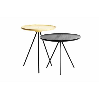 Key Coffee and Side Table Set Black / Ash