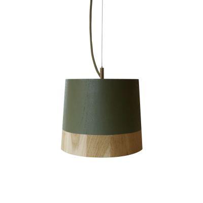 KIKKE & HEBBE Boost Pendant Lamp Wood  Army Green