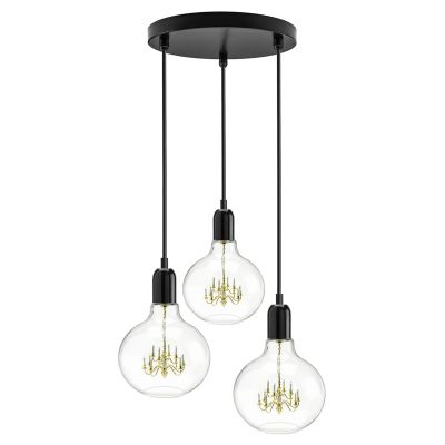 King Edison Trio Pendant Lamps King Edison Trio Black Pendant Lamp