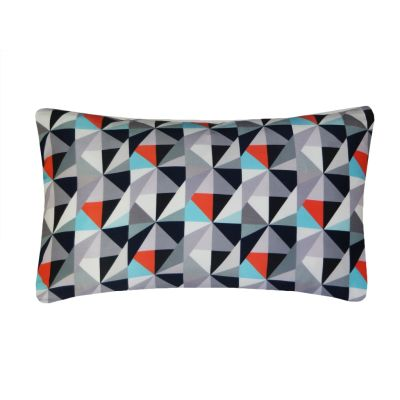 Kite Printed Rectangular Cushion  Greys and Reds