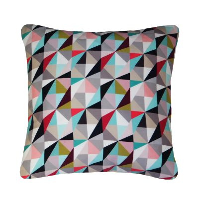 Kite Printed Square Cushion  Berry and Lime