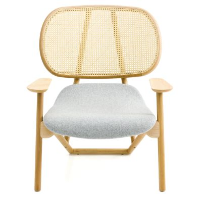 Klara Armchair with Cane Back - New Beech natural, A7219 - Field 222 ecru