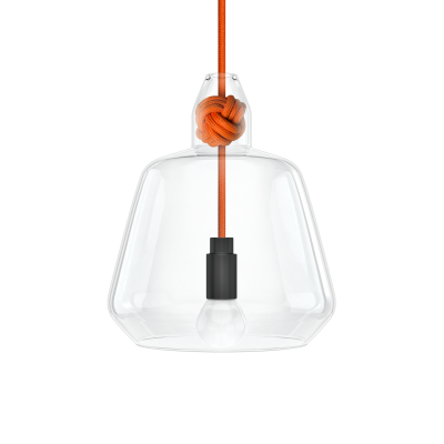 Knot Wide Pendant Light Orange