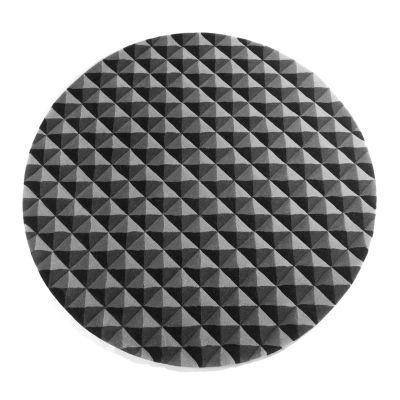 Knurled Circular Rug Grey