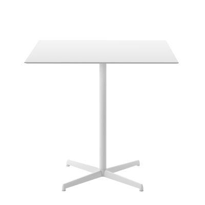 Kobe Dining Table - Square B62 Matt White, D34 White Layered Laminate, 69 x 69cm