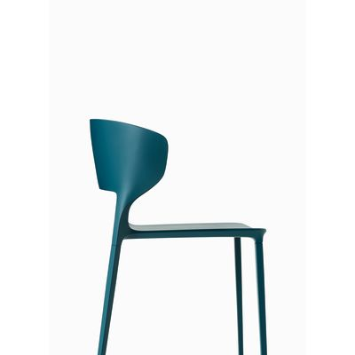Koki Dining Chair - Stackable Polypropylene F20 Anthracite-Polypropylene F20 Anthracite-Yes