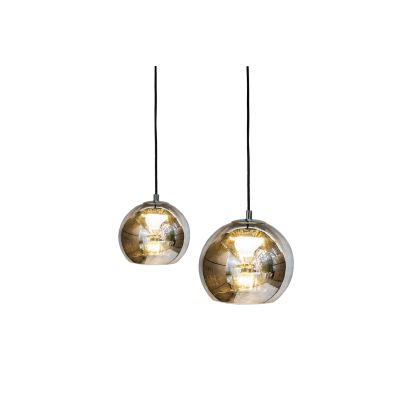 Kubric Single Pendant Lamp Satin Bronze, with Rosette