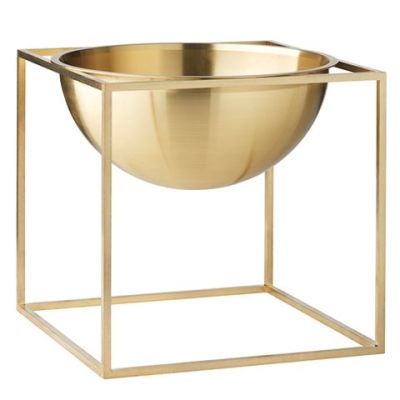 Kubus Bowl - Set of 2 23 x 23 cm, Brass