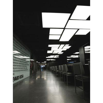 L Flow Rectangular Ceiling light Yes, 90x150, Matte White, Fluorescent