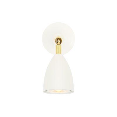Lainio Wall Light Powder Coated White & Polished Brass